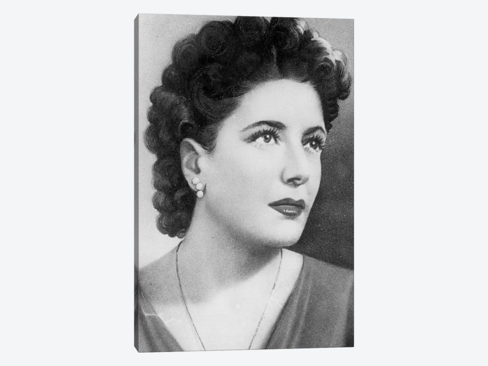 Clara Petacci , mistress and favorite of Benito Mussolini, here in the 40's by Rue Des Archives 1-piece Canvas Art Print