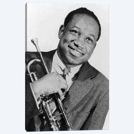 Clifford Brown  jazz trumpet player in 1953 Canvas Print #BMN8515} by Rue Des Archives Canvas Art Print