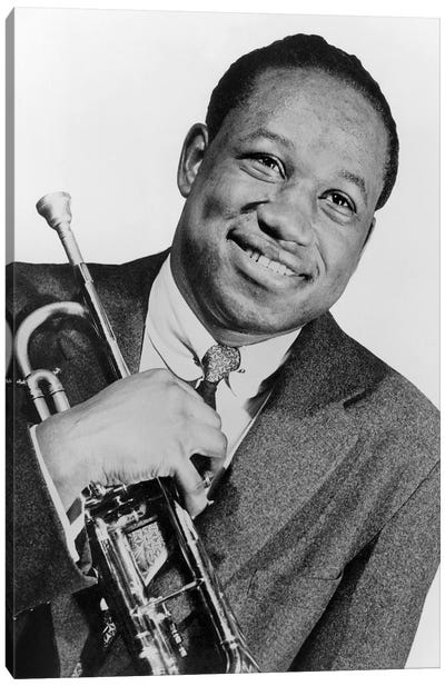 Clifford Brown  jazz trumpet player in 1953 Canvas Art Print