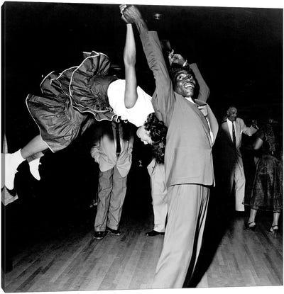Couple dancing at Savoy Ballroom, Harlem, 1947  Canvas Art Print