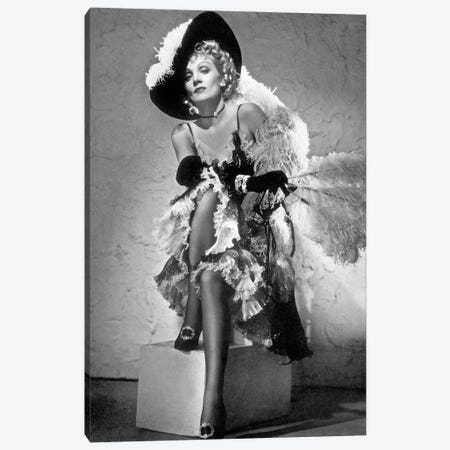 Destry Rides Again de George Marshall avec James Stewart, Marlene Dietrich, 1939. Canvas Print #BMN8527} by Rue Des Archives Canvas Artwork