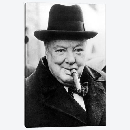 English Prime Minister Winston Churchill  in 1950 Canvas Print #BMN8540} by Rue Des Archives Art Print