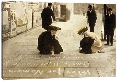 English suffragettes, 1912 Canvas Art Print