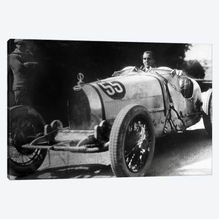 Ettore Bugatti Italian car manufacturer, 20's Canvas Print #BMN8548} by Rue Des Archives Canvas Art Print