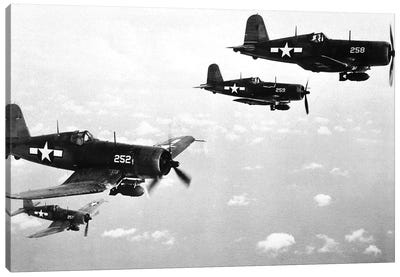 F4U Corsair planes , US Airforce, used from 1943 Canvas Art Print