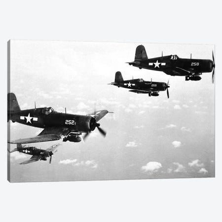 F4U Corsair Planes, Used From 1942-53 By The US Navy And Marine Corps Canvas Print #BMN8553} by Rue Des Archives Canvas Artwork