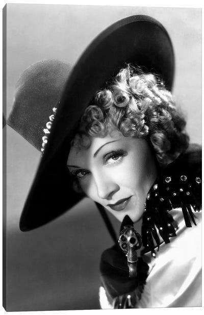 Destry Rides Again With Marlene Dietrich 1939 Canvas Art Print