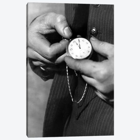 Fob Pocket Watch  Canvas Print #BMN8555} by Rue Des Archives Art Print