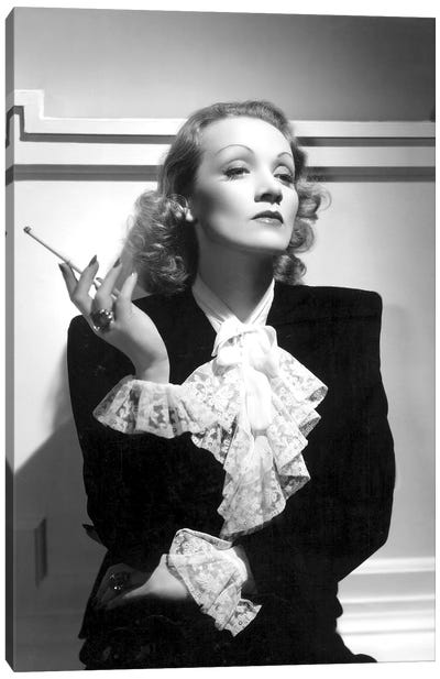 German Actress Marlene Dietrich  c. 1934 Canvas Art Print