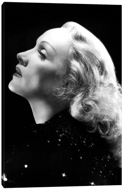German Actress Marlene Dietrich  c. 1937 Canvas Art Print