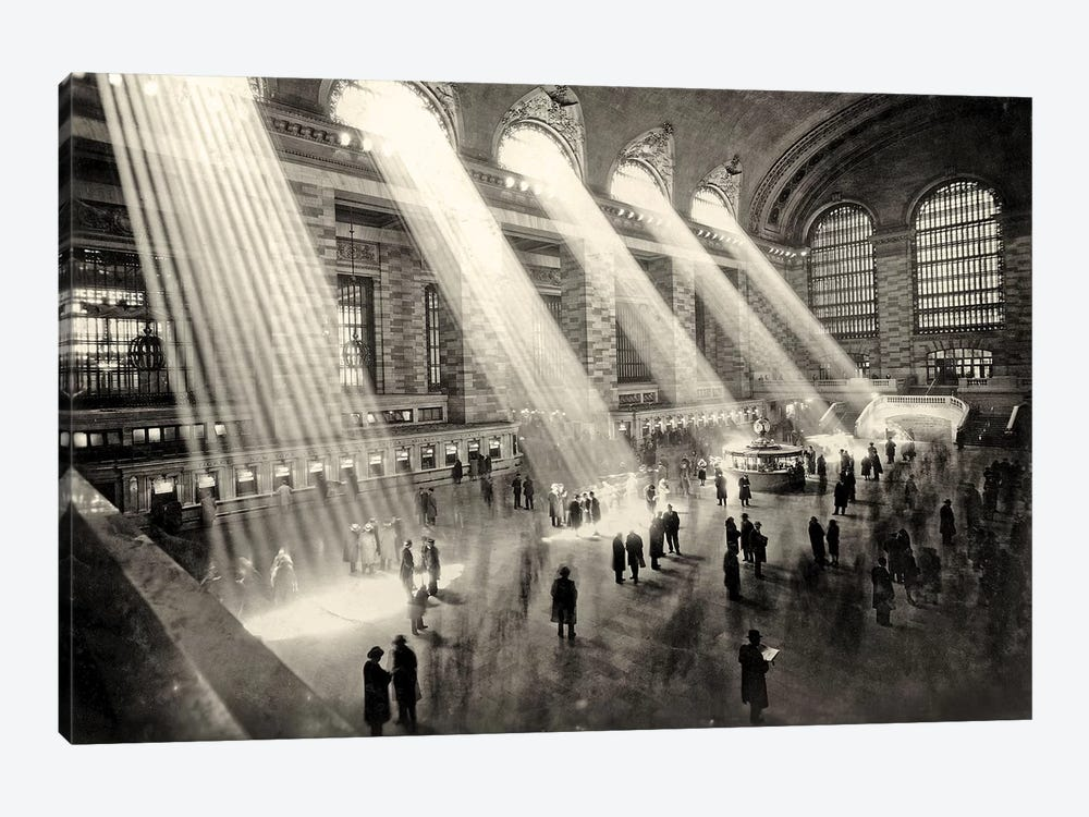Grand Central Terminal, New York c.1930  by Rue Des Archives 1-piece Canvas Art Print