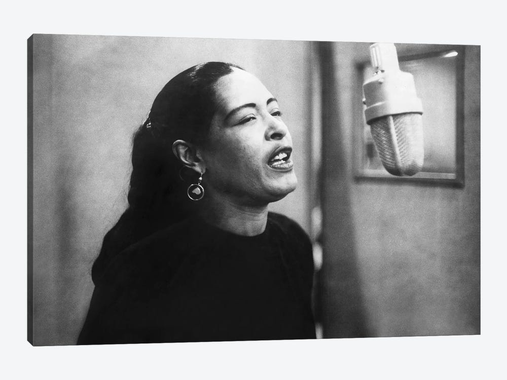 Jazz and blues Singer Billie Holiday durin    | Rue Des Archives | iCanvas