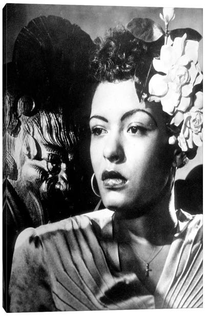 Jazz and blues Singer Billie Holiday  in the 40's Canvas Art Print