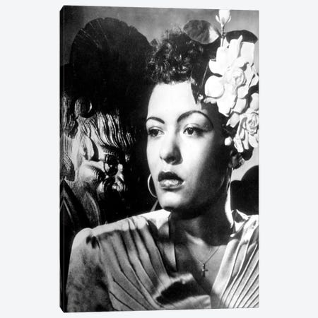 Jazz and blues Singer Billie Holiday  in the 40's Canvas Print #BMN8577} by Rue Des Archives Canvas Print