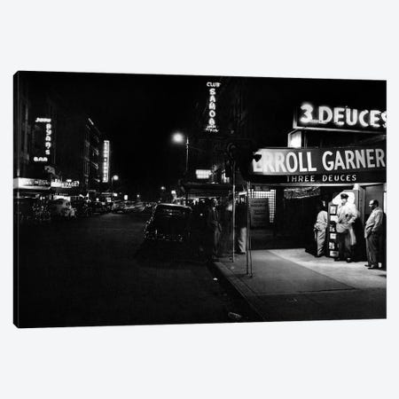 jazz club Three Deuces in the 52nd Street in New York Canvas Print #BMN8579} by Rue Des Archives Canvas Artwork