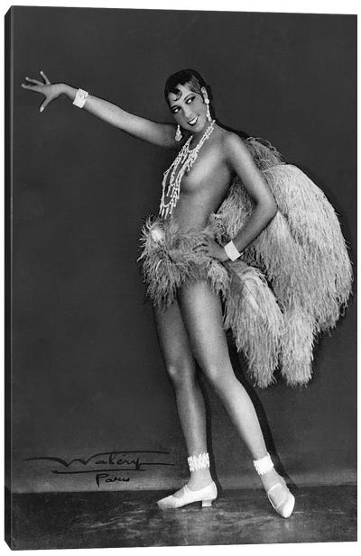Josephine Baker at Folie Bergere, 1925-1926. Photograph by Lucien Walery . Canvas Art Print