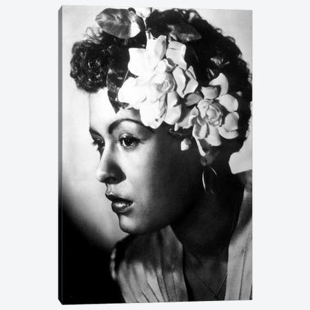 Jazz and blues Singer Billie Holiday  c. 1945 Canvas Print #BMN8587} by Rue Des Archives Canvas Artwork