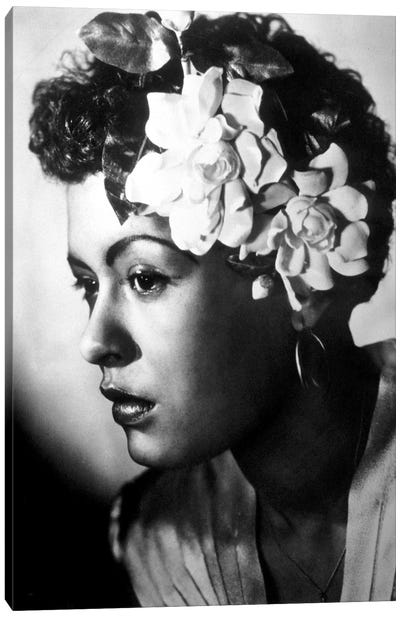 Jazz and blues Singer Billie Holiday  c. 1945 Canvas Art Print