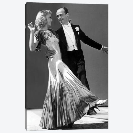 The Gay Divorcee With Ginger Rogers And Fred Astaire 1934 Canvas Print #BMN8588} by Rue Des Archives Art Print