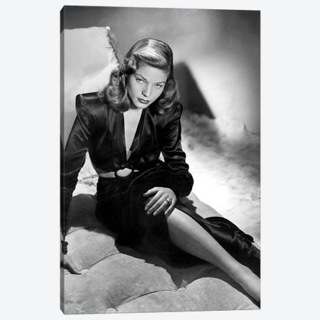 To Have And Have Not With Lauren Bacall, 1944  Canvas Print #BMN8591} by Rue Des Archives Canvas Wall Art