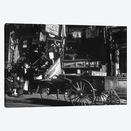 Lower East Side jewish district in NYC c. 1890 : Hester Street Canvas Print #BMN8595} by Rue Des Archives Art Print