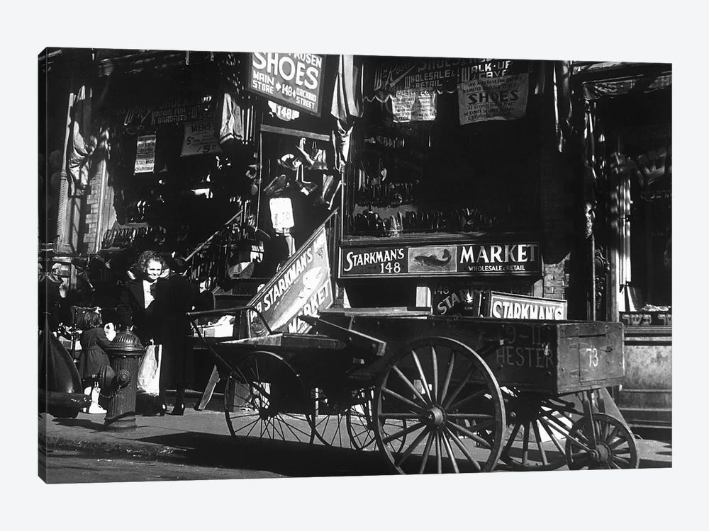 Lower East Side jewish district in NYC c. 1890 : Hester Street by Rue Des Archives 1-piece Canvas Art