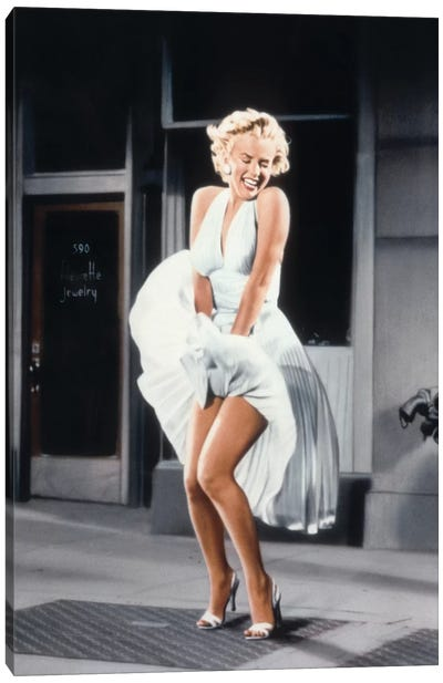 Marilyn Monroe in The Seven Year Itch by Billy Wilder, 1955  Canvas Art Print