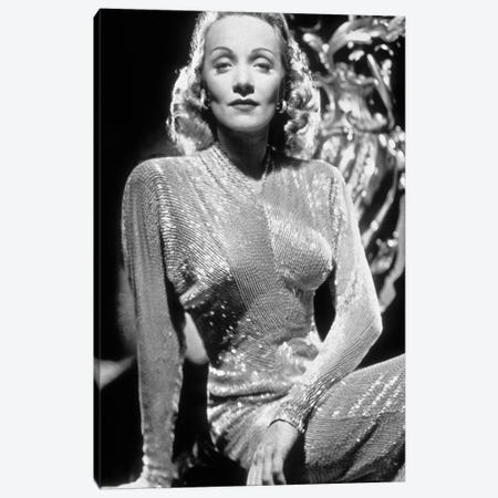 Marlene Dietrich , German-born American Actress and Singer. Canvas Print #BMN8611} by Rue Des Archives Canvas Print