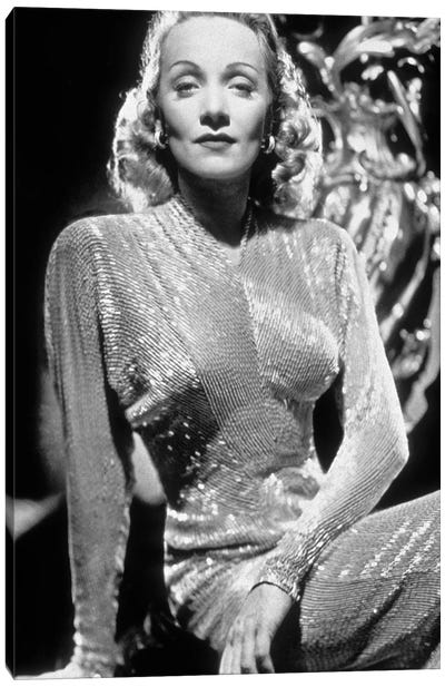Marlene Dietrich , German-born American Actress and Singer. Canvas Art Print