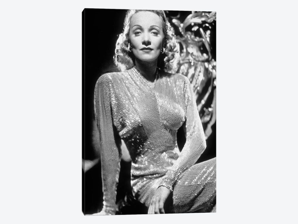 Marlene Dietrich , German-born American Actress and Singer. by Rue Des Archives 1-piece Canvas Wall Art