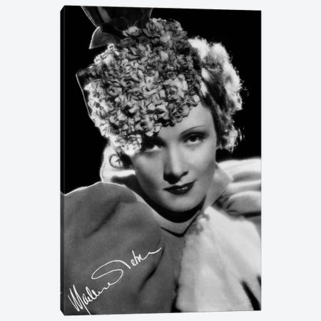 Marlene Dietrich German actress Canvas Print #BMN8612} by Rue Des Archives Art Print
