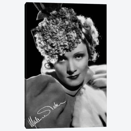 Marlene Dietrich German actress Canvas Print #BMN8612} by Rue Des Archives Art Print
