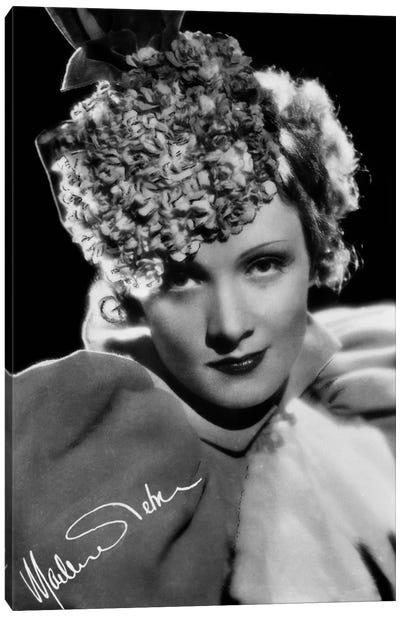 Marlene Dietrich German actress Canvas Art Print