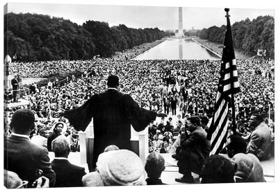 Martin Luther King Jr. Speaking At The Prayer Pilgrimage for Freedom, National Mall, Washington D.C., May 17, 1957 Canvas Art Print