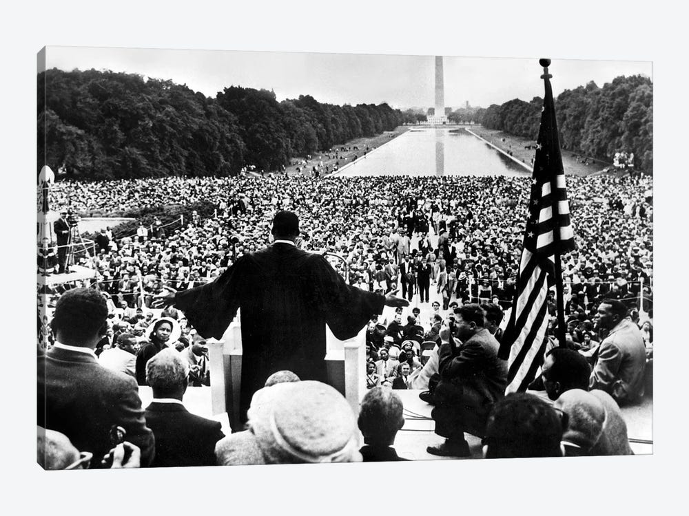 Martin Luther King Jr. Speaking At The Prayer Pilgrimage for Freedom, National Mall, Washington D.C., May 17, 1957 by Rue Des Archives 1-piece Canvas Art
