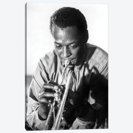 Miles Davis  American Jazz Trumpet Player, 1959  3-Piece Canvas #BMN8615} by Rue Des Archives Canvas Artwork