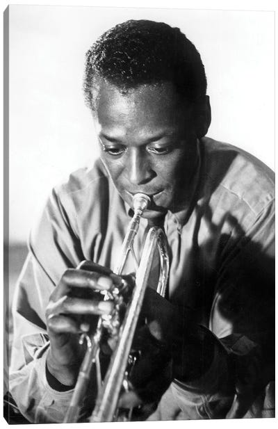 Miles Davis  American Jazz Trumpet Player, 1959  Canvas Art Print