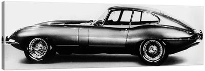 New Jaguar car will be presented for the first time in Geneva car fair March 16, 1961 Canvas Art Print