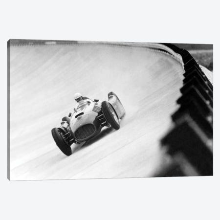 "Emilio Giuseppe ""Nino"" Farina Driving His Ferrari, Monza Eni Circuit, Qualifying Round, Italian Grand Prix, August 26, 1955 Canvas Print #BMN8622} by Rue Des Archives Canvas Wall Art"