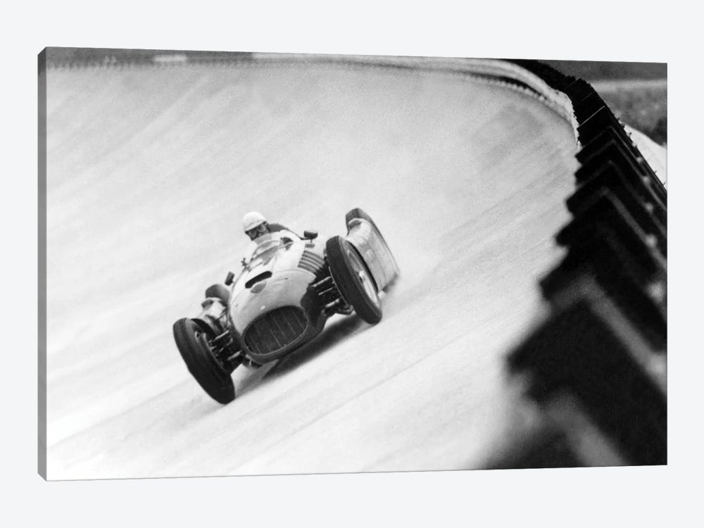 "Emilio Giuseppe ""Nino"" Farina Driving His Ferrari, Monza Eni Circuit, Qualifying Round, Italian Grand Prix, August 26, 1955 by Rue Des Archives 1-piece Canvas Artwork"