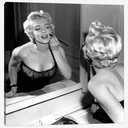 On The Set, Marilyn Monroe. Canvas Print #BMN8623} by Rue Des Archives Canvas Artwork