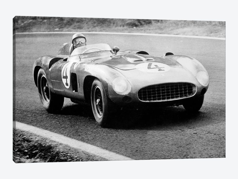 racing driver Fangio here at the wheel during Great Sweden Prize race August 1956 by Rue Des Archives 1-piece Canvas Print