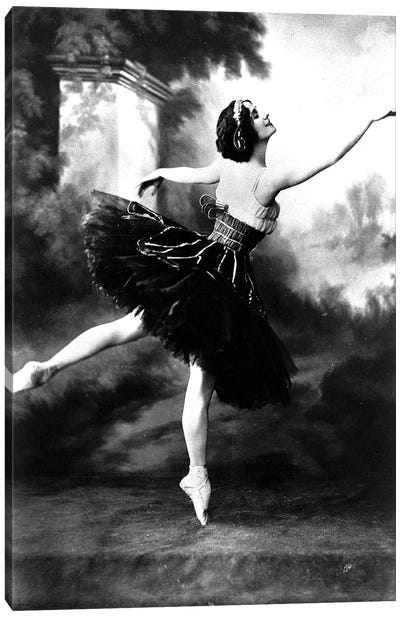 Russian dancer Anna Pavlova  here in the 10's Canvas Art Print
