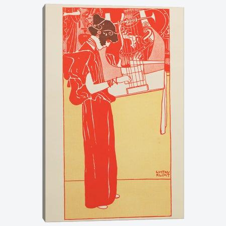Musik  Canvas Print #BMN863} by Gustav Klimt Canvas Wall Art