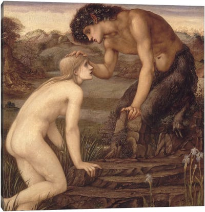 Pan and Psyche, 1870s  Canvas Art Print