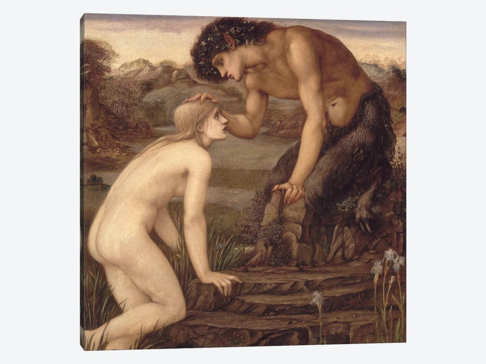 Pan and Psyche, 1870s  by Sir Edward Coley Burne-Jones 1-piece Canvas Artwork