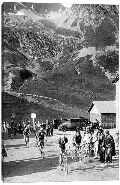 Tour de France 1929, 15th leg Grenoble/Evian  on July 20 : here Antonin Magne ahead at the Lautaret pass Canvas Art Print