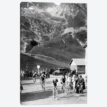 Tour de France 1929, 15th leg Grenoble/Evian  on July 20 : here Antonin Magne ahead at the Lautaret pass Canvas Print #BMN8651} by Rue Des Archives Canvas Art Print