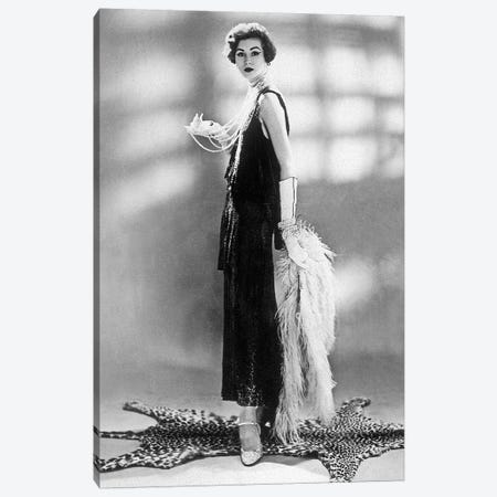 woman wearing Chanel dress, 1928 Canvas Print #BMN8659} by Rue Des Archives Canvas Print