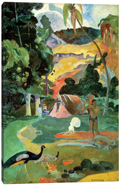Matamoe or, Landscape with Peacocks, 1892 Canvas Art Print